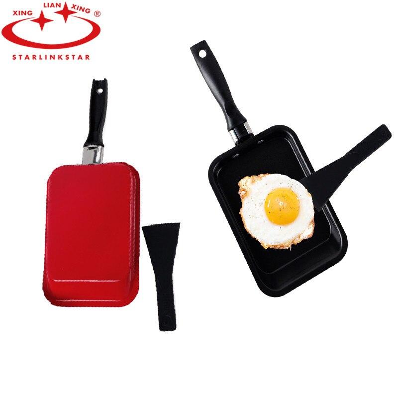 1PC Non-stick Frying Pan with Nano-diamond Coating Rectangle Grill Pan Fry Steak Pancake Egg Pan Induction&Gas Safe Cookware Pan