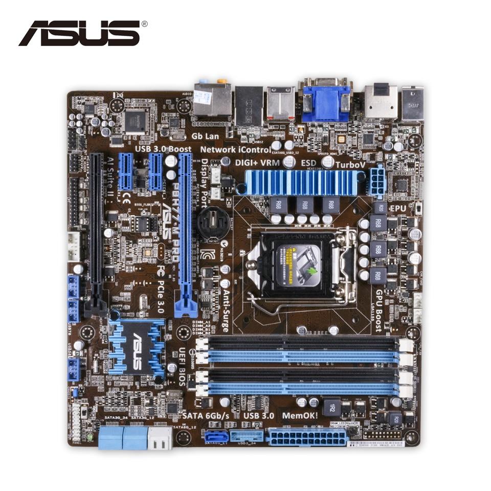 все цены на  Asus P8H77-M PRO Original Used Desktop Motherboard H77 Socket LGA 1155 i3 i5 i7 DDR3 32G SATA3 USB3.0 uATX  онлайн