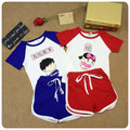 Children Suit 2016 Male Girl  New Style Title Party Short Sleeve T-Shirt Undershirt Girl Baby  Wear Shorts 2 Pieces Set
