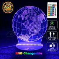 Kreative Party Geschenke Ferngesteuerte Globus 3D USB LED Ball Licht Würfel Lampe Motorrad Lampe Conch Lächeln Emjoy Licht