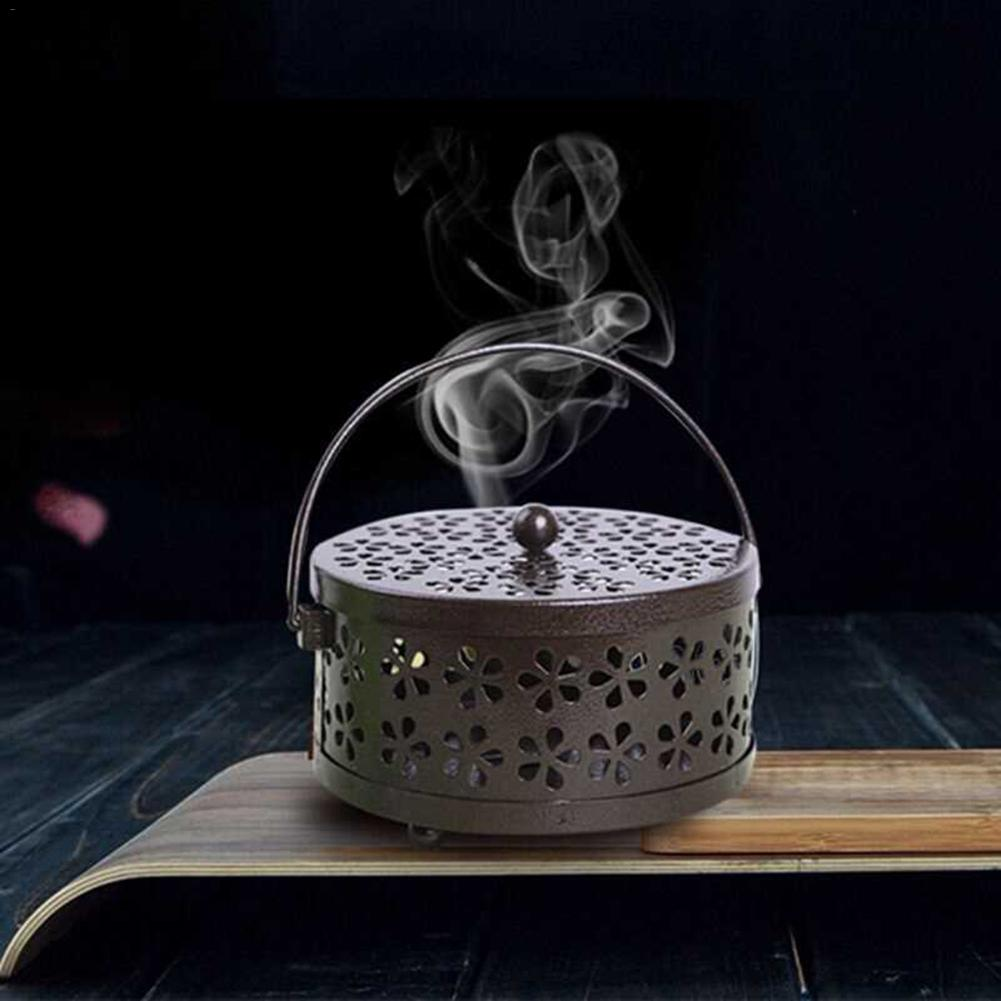 Repellent-Box Mosquito-Coil-Holder Garden-Burner Metal Floral Retro Nordic AIHOME Insect