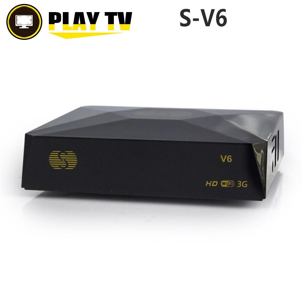 цена на S-V6 DVB-S2 Digital Satellite Receiver with 2 USB port Support Xtream NOVA Wheel TV Youtube USB Wifi card sahring MGCAMD DVB S2