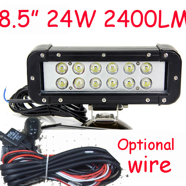 Free DHL/UPS/FEDEX ship! 8.5 24W,2400LM 10~30V,6500K,LED working bar;led offroad bar,Option wire harness,4x4,LED bar light томас бабингтон маколей полное собрание сочинений том 2
