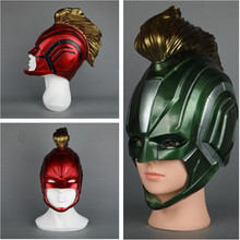 Hot New Movie Captain Marvel Mask Cosplay Costumes Props Carol Danvers Helmet Red Green PVC Super Cool Fancy Gift