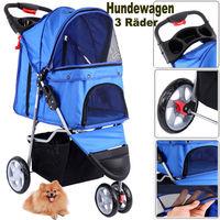 (Ship from EU) 3 Wheels Pet Stroller Dog Cat Cart Puppy Pet Stroller Folding Pet Carrier for Travel Walking