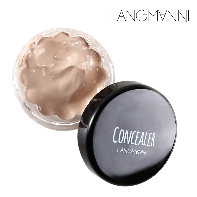 Langmanni Woman Makeup Facial Hide Stain Corrector Contour Corrective Makeup Perfect Cream Cover Concealer Makeup Beauty Tool