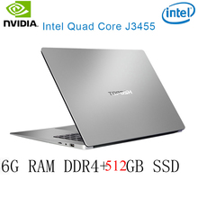 P2-31 6G RAM 512G SSD Intel Celeron J3455 NvIDIA GeForce 940M Gaming laptop keyboard and OS language available for choose