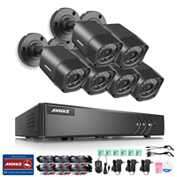 ANNKE 8CH 720P Security System 1080p Lite Digital Video Recorder And 6 1280TVL Outdoor Fixed Weatherproof