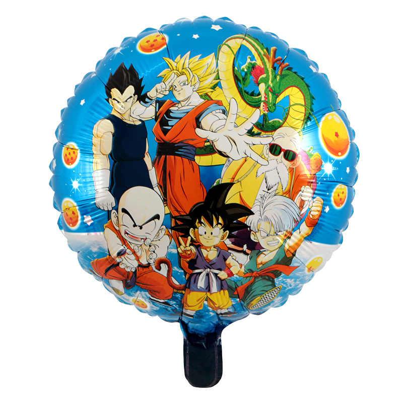 3 pçs 18 polegada anime dragon ball figura de ação brinquedos balões son goku folha dos desenhos animados balões festa de aniversário do casamento decoração brinquedo