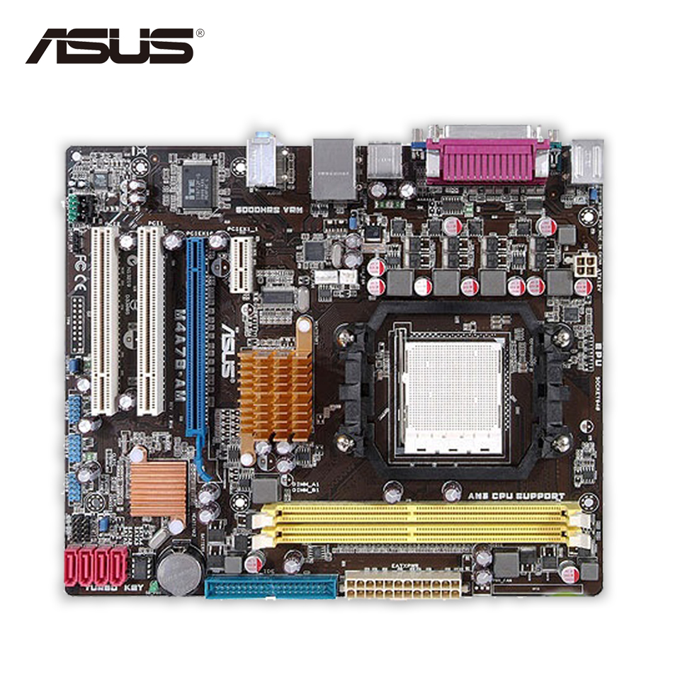 Asus M4A78-AM Desktop Motherboard 780G Socket AM2 DDR2 SATA2 USB2.0 uATX free shipping 100% original motherboard for biostar ta770e socket am2 am2 ddr2 amd 940 mainboard desktop motherboard