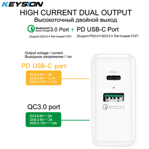 Image 4 - KEYSION 36W USB C PD Fast Charger for iPhone 11 Pro XR XS Max Quick Charge 3.0 Wall USB Charger Adapter for Samsung Xiaomi redmi