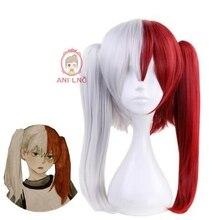 Anilnc My Hero Academia Cosplay long Todoroki Shoto Headwear Wig+One Cap