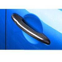 2x Carbon Fiber Effect Door Handle Cover Trims For Mini Cooper F54/F55/F56/F57