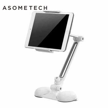 4-10'' Universal Strong Sucker Mount Holder Bracket Support For Ipad 2 Air 1 2 Mini 1 4 Aluminum alloy 360 Rotation Tablet Stand