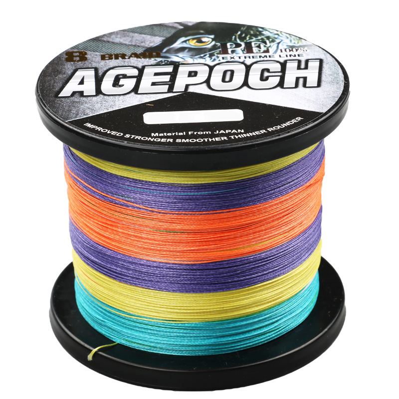 Brand 8 Strand 1000M 6-300LB Braided Multifilament Fishing Line Material From Japan Muticolor Color hgyikun brand 1000m 8 strand pe multifilament braided fishing line saltwater freshwate 50lb 60lb 70lb 80lb