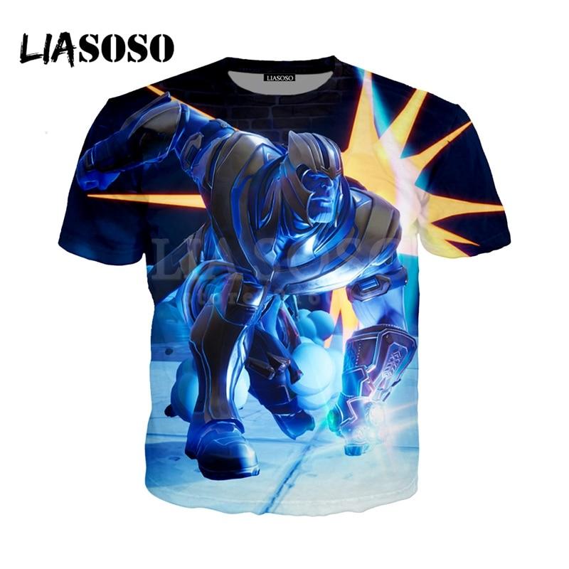 LIASOSO NEW Game Fortnite Avengers Infinity War Thanos 3D Print t shirt/Hoodie/Sweatshirt Unisex Funny Good Quality Tops G1182