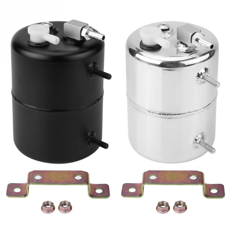 Oil Catch Tank Breather Universal Aluminium Alloy 2L Vacuum Brake Compact Baffled Vacuum Reservoir Tank Auto