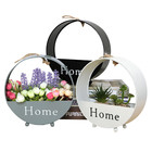 Iron Hanging Vase Wall Decor Storage Flowers Basket Household And Office Decor Fower Plant Party Wedding Decoration Flower Box