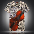 Personalized cello letters pattern digital printing t shirt homme 2016 Summer American style fashion short sleeve t shirt M-3XL