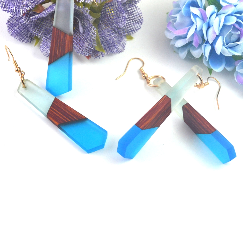 gifts for women earrings jewelry Fashion retro wood resin , hand-made features of natural grain, factory wholesale.