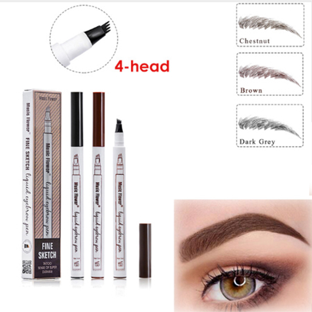 Beauty Essentials Hot Sale Microblading Eyebrow Tattoo Pen Waterproof Eye Makeup 3 Colors Easy Use Eyebrow Pen Deep Color Pencil Eyebrow Cool In Summer And Warm In Winter
