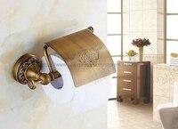 Bathroom Washroom Toilet Paper Holder Roll Tissue Holders Paper Box Bathroom Accessories Antique Brass Nba487