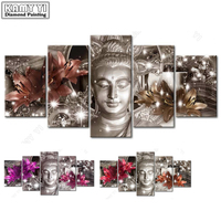 100 Full 5D Diy Daimond Painting Cross Stitch Buddha Lily 3D Diamond Painting Rhinestones Paintings Embroidery
