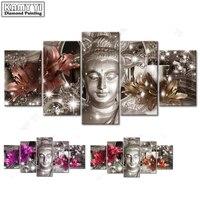 100 Full 5D Diy Daimond Painting Cross Stitch Buddha Lily 3D Diamond Painting Rhinestones Paintings Embroidery
