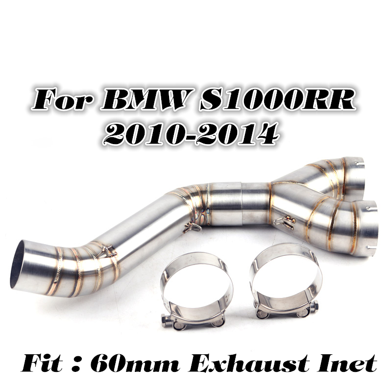 Slip on For BMW S1000RR 2010 2012 2013 2014 2017 2018 Motorcycle 304 Steel Exhaust Middle Link Pipe Full SystemSlip on For BMW S1000RR 2010 2012 2013 2014 2017 2018 Motorcycle 304 Steel Exhaust Middle Link Pipe Full System