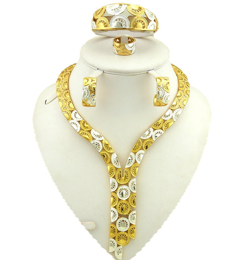 gold plating jewelry sets african big jewelry set wholesale african