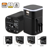 Universal International Travel Adapter with Dual usb Charging Ports 100V~240V US EU UK Smart Plug Power Adapter for Mobile Phone