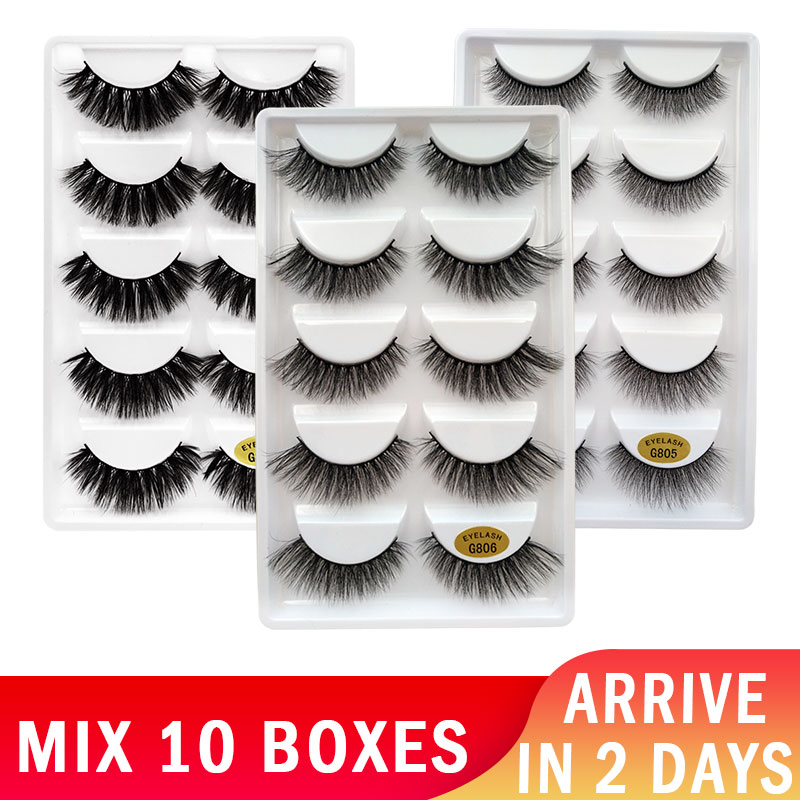 50 Pairs Eyelashes Wholesale Mink Eyelashes Natural Long False Lashes Makeup 3D Mink Lashes Full Fake Eyelash Extensions