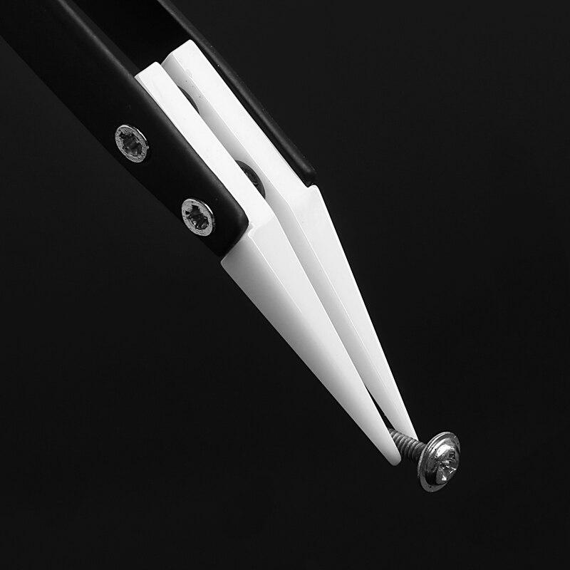 Handwerkzeuge Keramik Pinzette Mit Edelstahl Griff Curved Ausgerichtet Pinzette Silber/schwarz