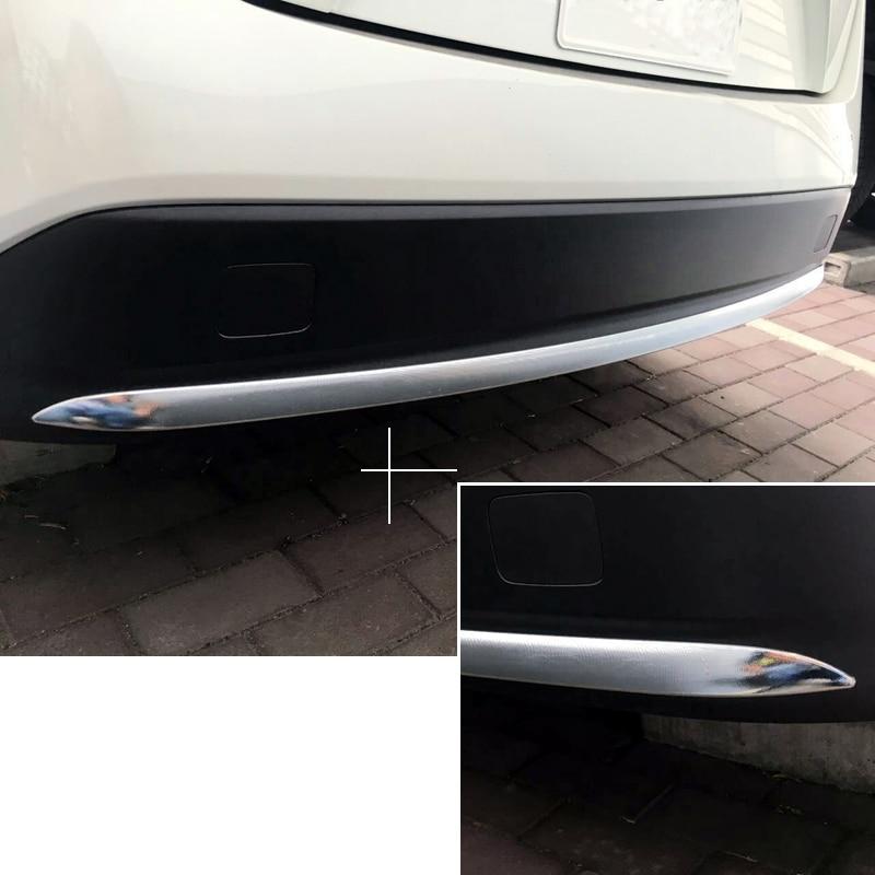 Стайлинга автомобилей 1 шт. ABS задний бампер занос протектор литья Обложка украшения отделка для Toyota Prius премьер PHV 2017 2018