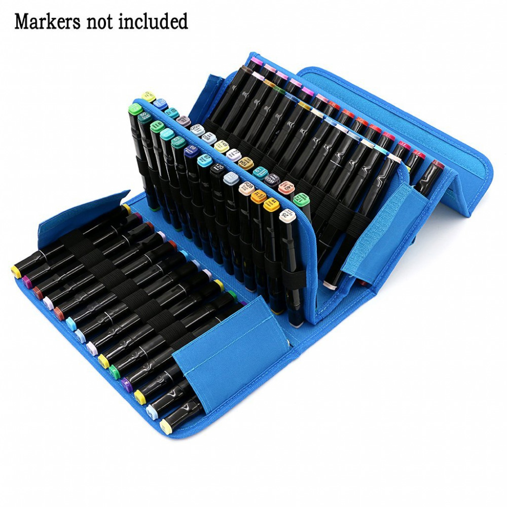 Touchfive Durable 80 120 160 Marker Storage For Markers Carrying Bag Pencil Case Organizer Stationery In Cases From Office School Supplies On