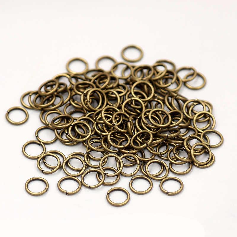 Ufavoirte 6 цветов 100 шт./лот застежка крючок Открытый круг прыгающие кольца DIY ожерелье браслет аксессуары для изготовления ювелирных изделий