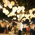10pcs/lot 8 inch(20cm) White Colors paper lanterns home wedding decoration holiday party suppliers Marriage room decoration