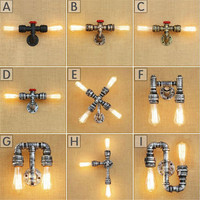 Industrial Wall Lamp American Retro Country Loft Style LED Lamps Antique rust Iron Wall Light for Bar Cafe Home Lighting