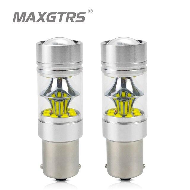 2x S25 1156 BA15S 1157 BAY15D P21W 7440 7443 W21W 100W CREE Chip Auto LED Light Reverse Backup Led lamp Tail Richtingaanwijzer Lamp