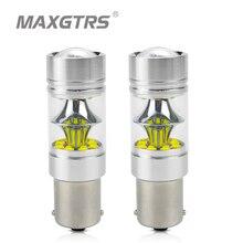 2x S25 1156 BA15S 1157 BAY15D P21W 7440 7443 W21W 100W קרי שבב רכב LED הפוך אור גיבוי Led מנורת זנב איתות הנורה