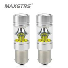 2x s25 1156 ba15s 1157 bay15d p21w 7440 7443 w21w 100 w cree chip carro led reverso luz de backup lâmpada led cauda turn signal bulbo