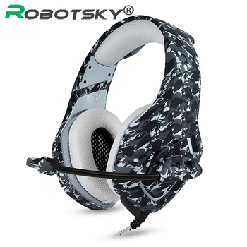 Gaming Headphone Camouflage Headset K1 Bass Stereo Game Earphones with Mic For Xbox One PS4 For Phone Laptop PC Tablet Gamer