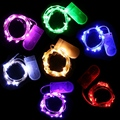 Melhor Preço 20 LED 2 M Colorido Natal Luz de Fadas Fio De Prata Decoração de Cordas da Festa de Casamento À Prova D' Água Da Bateria Lâmpada Operado