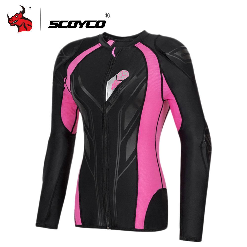 SCOYCO Motorcycle Jacket Protective Gear Women Motocross Protection Moto Jacket Motorcycle Armor Racing Body Armor Moto
