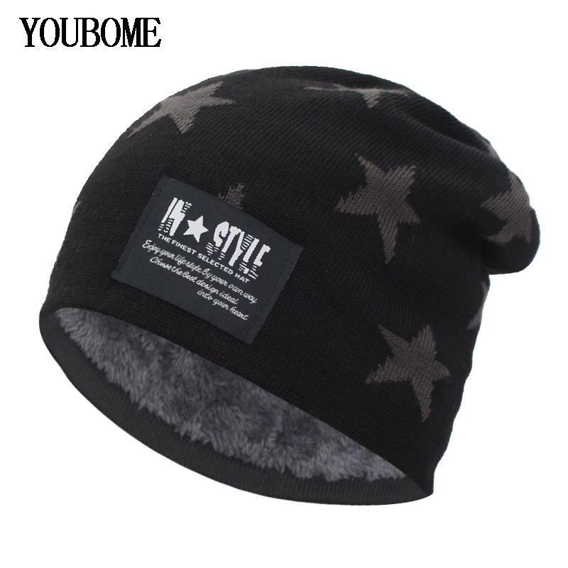 YOUBOME Men   Skullies     Beanies   Winter Hats For Women Knitted Hat Male Hat Baggy Warm Soft Caps Bonnet Homme Skull Mask Hats Caps