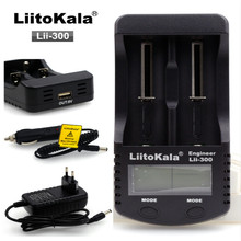 Liitokala lii300 LCD Charger 3.7V 18650 26650 18500 Cylindrical Lithium Batteries 1.2V AA AAA NiMH Battery Charger+free shipping