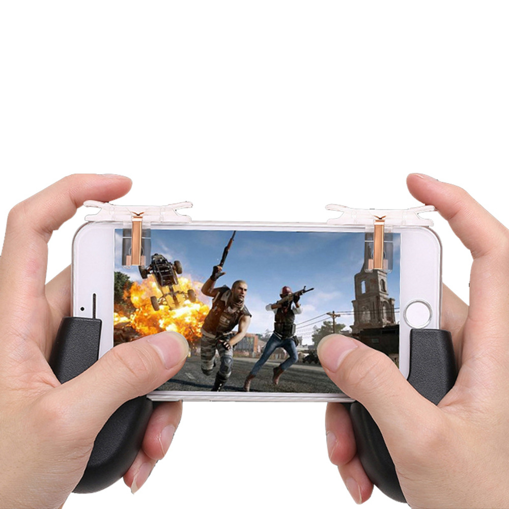 1Pair T10 Gaming Trigger for Rules of Survival Fire Button Aim Key W/N Game Handle Grip Shooter Controller Gamepad for PUBG