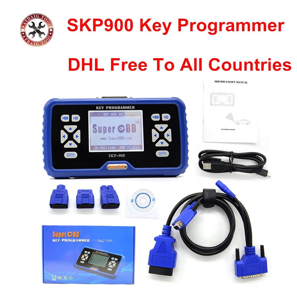 Цена за 2017 Последним SuperOBD SKP-900 ручные OBD2 Auto Key Программист для Почти Всех Автомобилей SKP900 ключевые программист DHL Бесплатно доставка