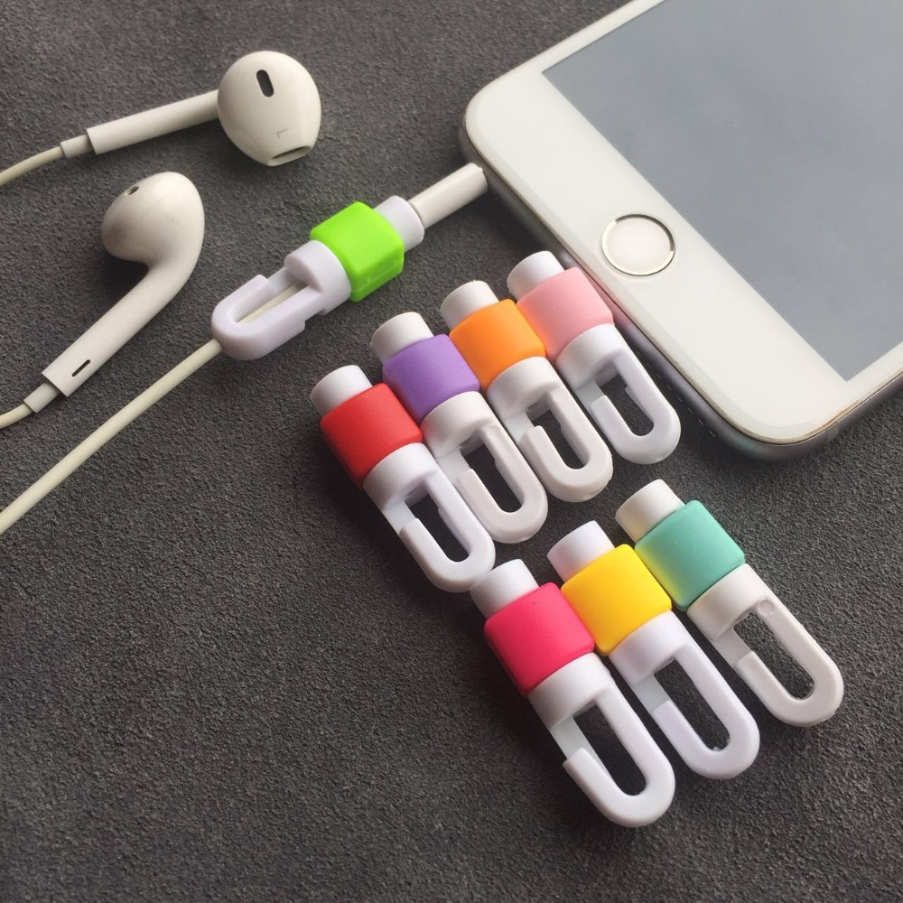 Earphone Cable Protector For Iphone Earphones Wire Organizer Earpods Cord Protector Protective Case Colors Bobbin Winder Cover