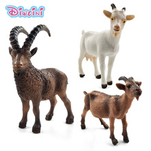 Farm White Goat Sheep Simulation Animal model Action toy figures plastic Craft Decoration educational Christmas Gift For Kids 15pcs set children education poultry animal family farm feed fence simulation model animal toy christmas gift free shipping